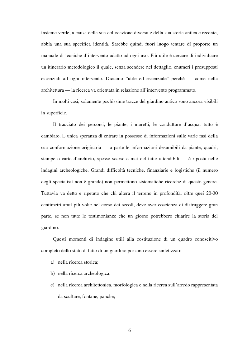 Anteprima della tesi: Il restauro di Parco Papadopoli in San Polo di Piave (Tv), Pagina 3
