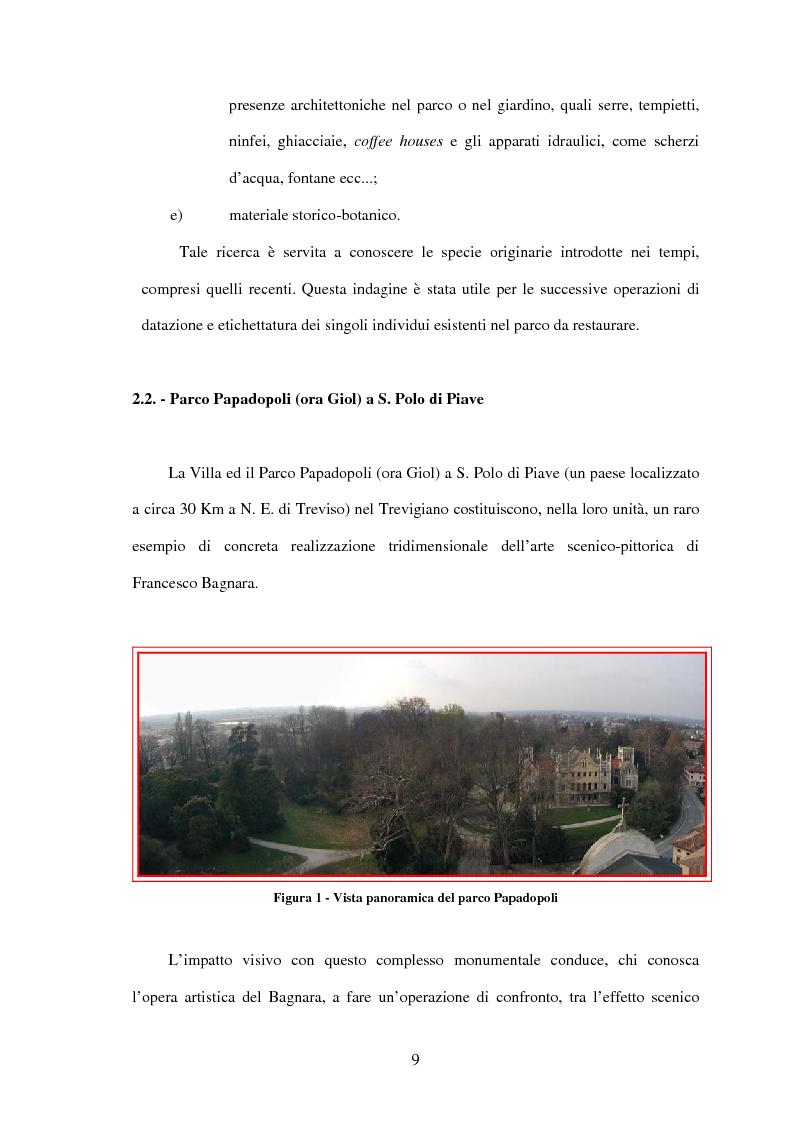 Anteprima della tesi: Il restauro di Parco Papadopoli in San Polo di Piave (Tv), Pagina 6