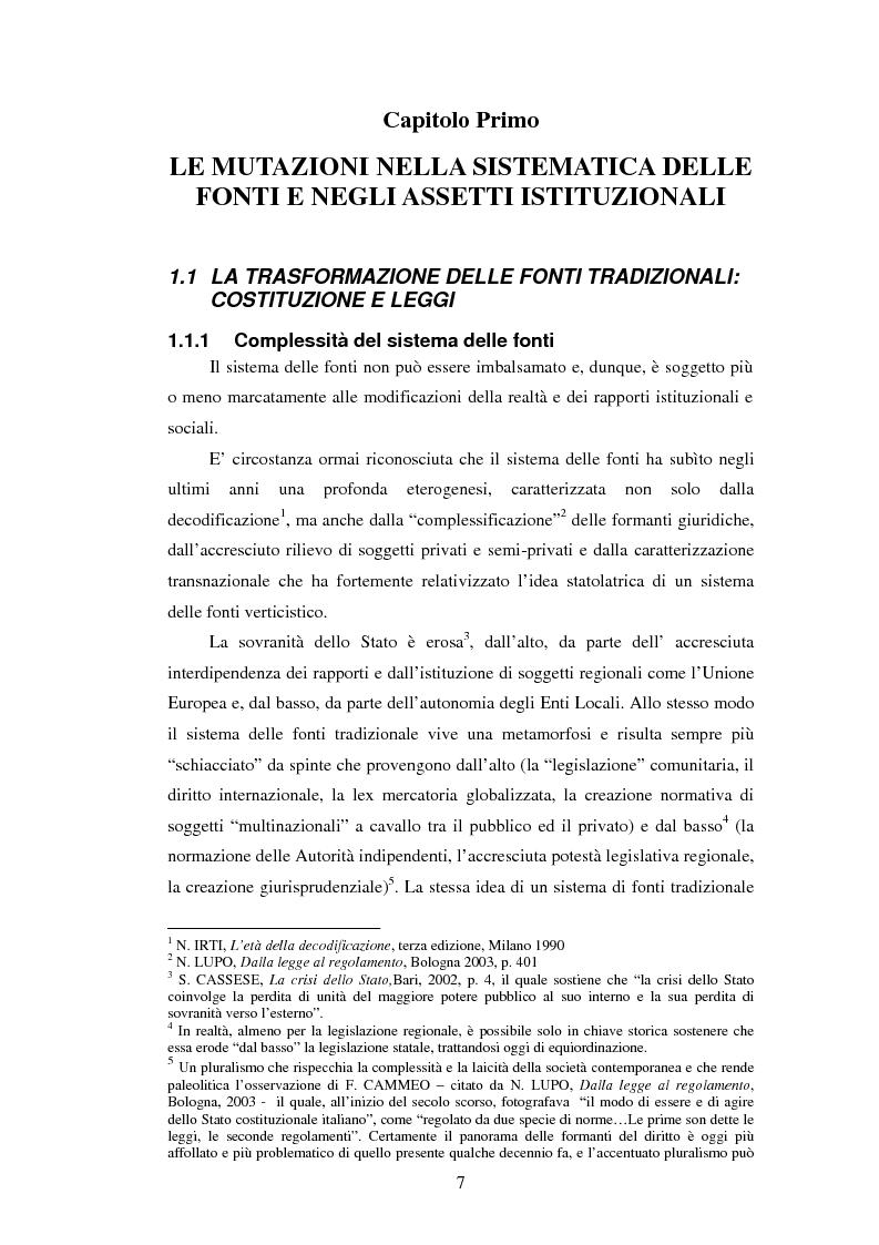 Anteprima della tesi: La posizione istituzionale della CONSOB e i suoi poteri di normazione secondaria, Pagina 1