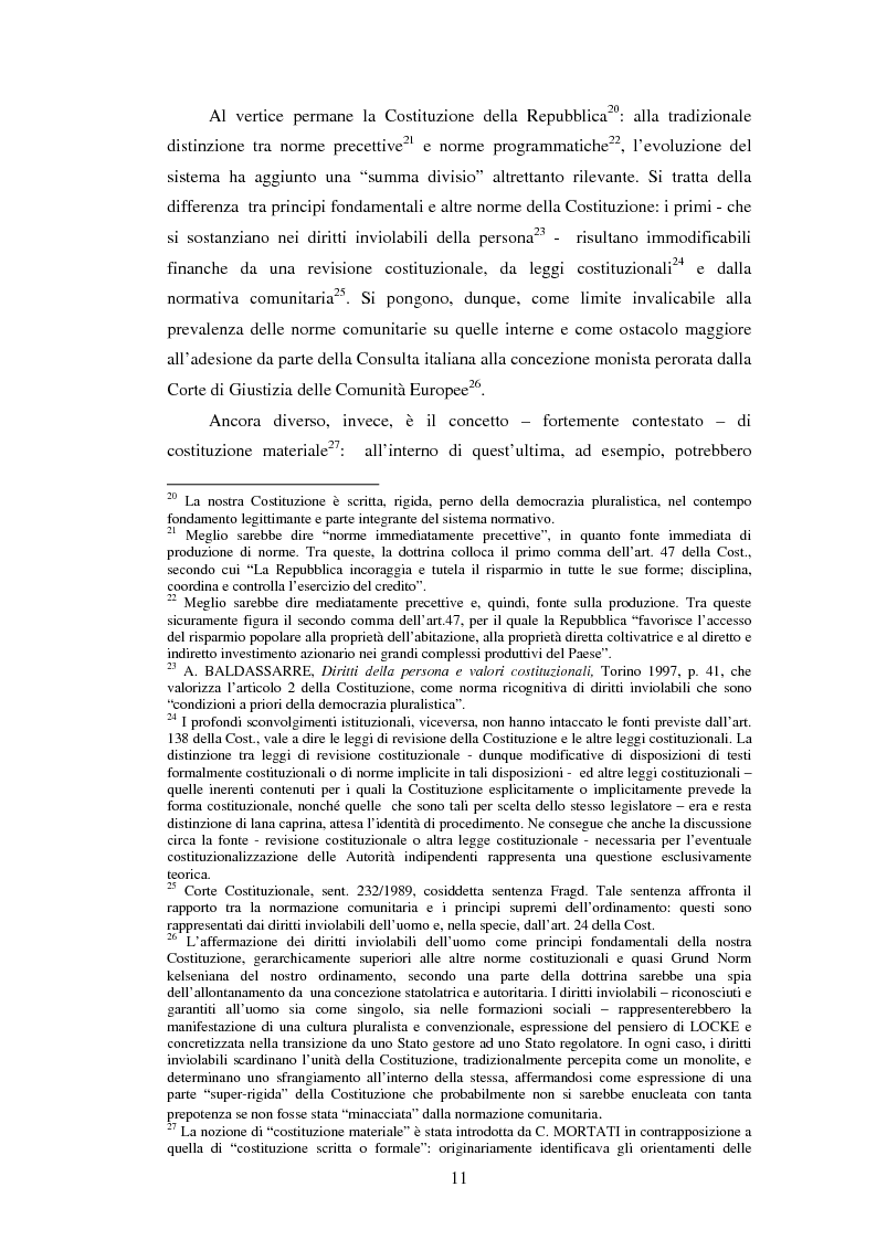 Anteprima della tesi: La posizione istituzionale della CONSOB e i suoi poteri di normazione secondaria, Pagina 5