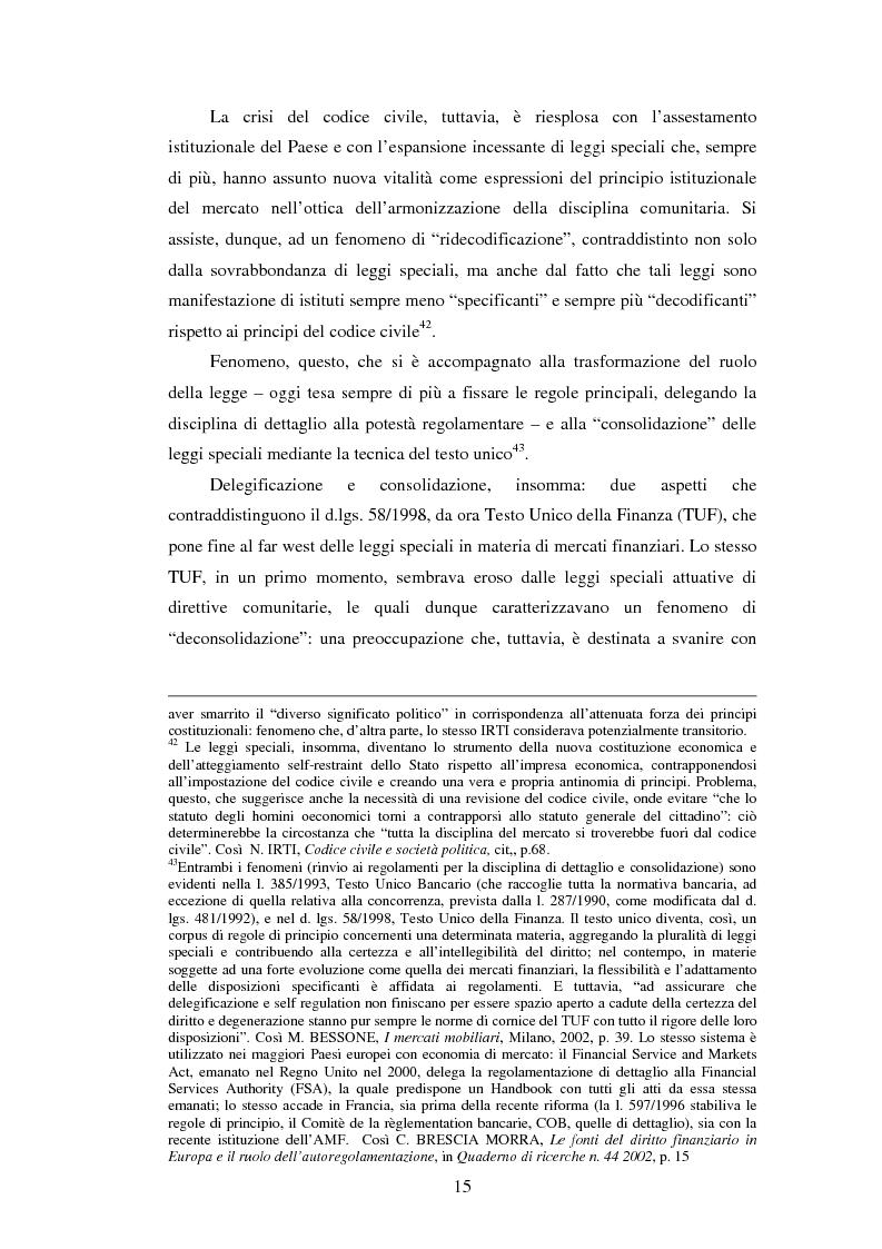 Anteprima della tesi: La posizione istituzionale della CONSOB e i suoi poteri di normazione secondaria, Pagina 9