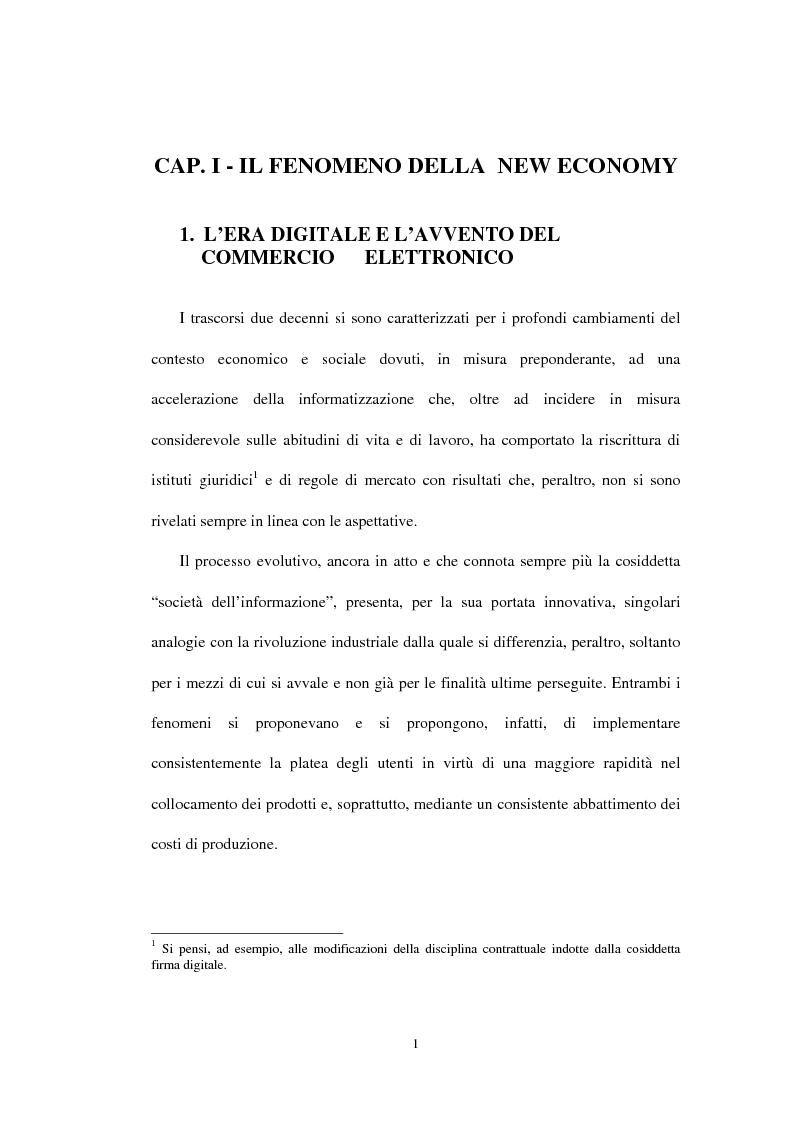 Anteprima della tesi: E-Finance: le nuove frontiere del commercio online, Pagina 1