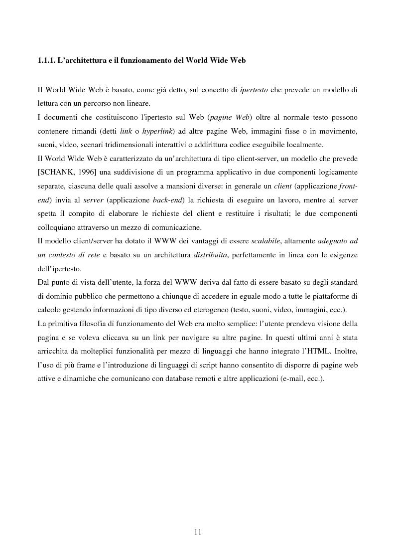 Anteprima della tesi: IVQS SERVER: un sistema client/server di interrogazione di basi di dati multimediali in rete, ad elevato grado di usabilità, con interfaccia iconica, Pagina 11