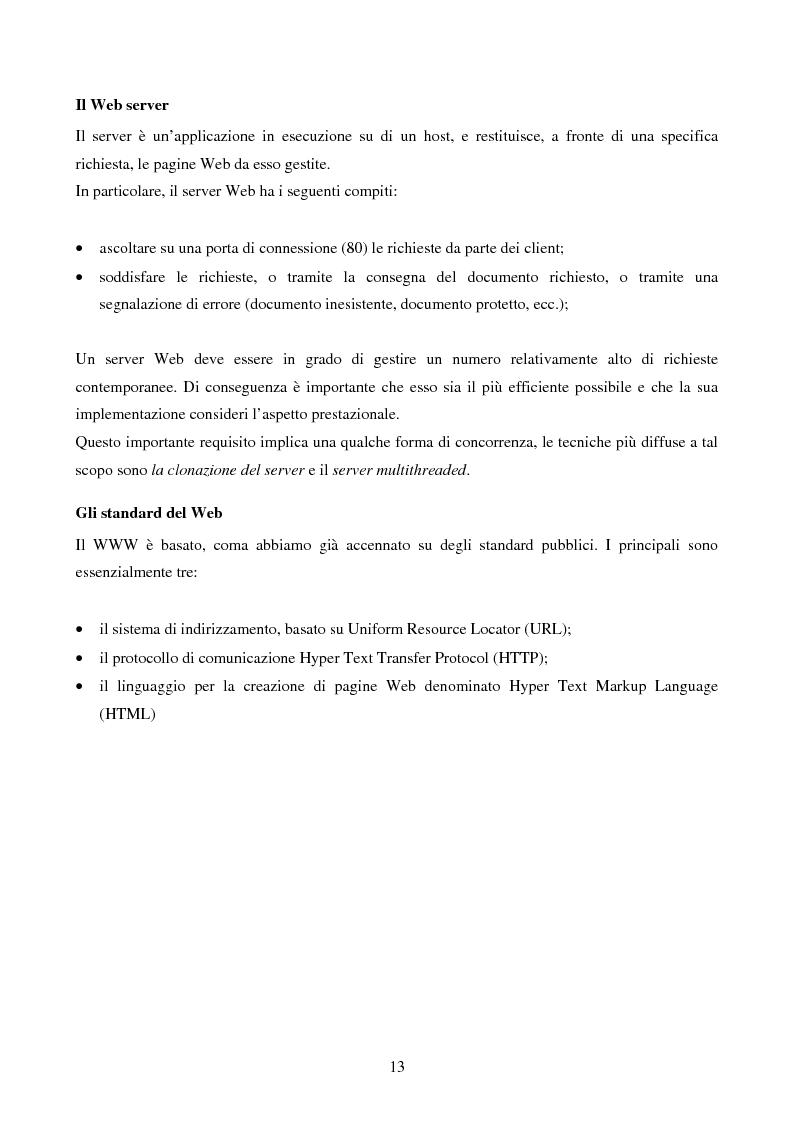 Anteprima della tesi: IVQS SERVER: un sistema client/server di interrogazione di basi di dati multimediali in rete, ad elevato grado di usabilità, con interfaccia iconica, Pagina 13