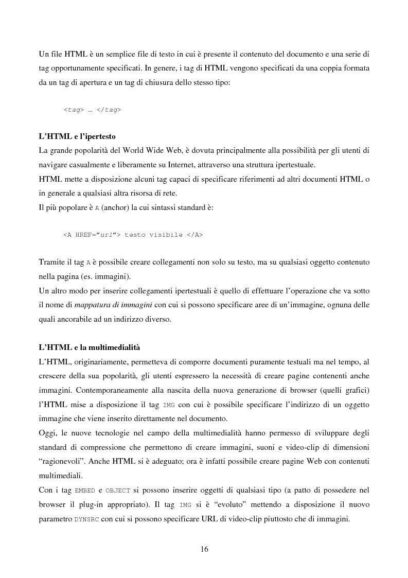 Anteprima della tesi: IVQS SERVER: un sistema client/server di interrogazione di basi di dati multimediali in rete, ad elevato grado di usabilità, con interfaccia iconica, Pagina 16