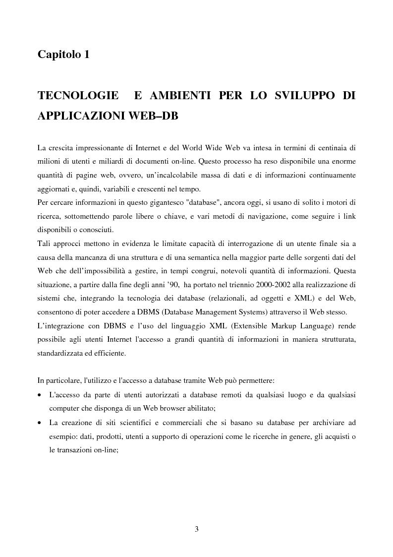Anteprima della tesi: IVQS SERVER: un sistema client/server di interrogazione di basi di dati multimediali in rete, ad elevato grado di usabilità, con interfaccia iconica, Pagina 3