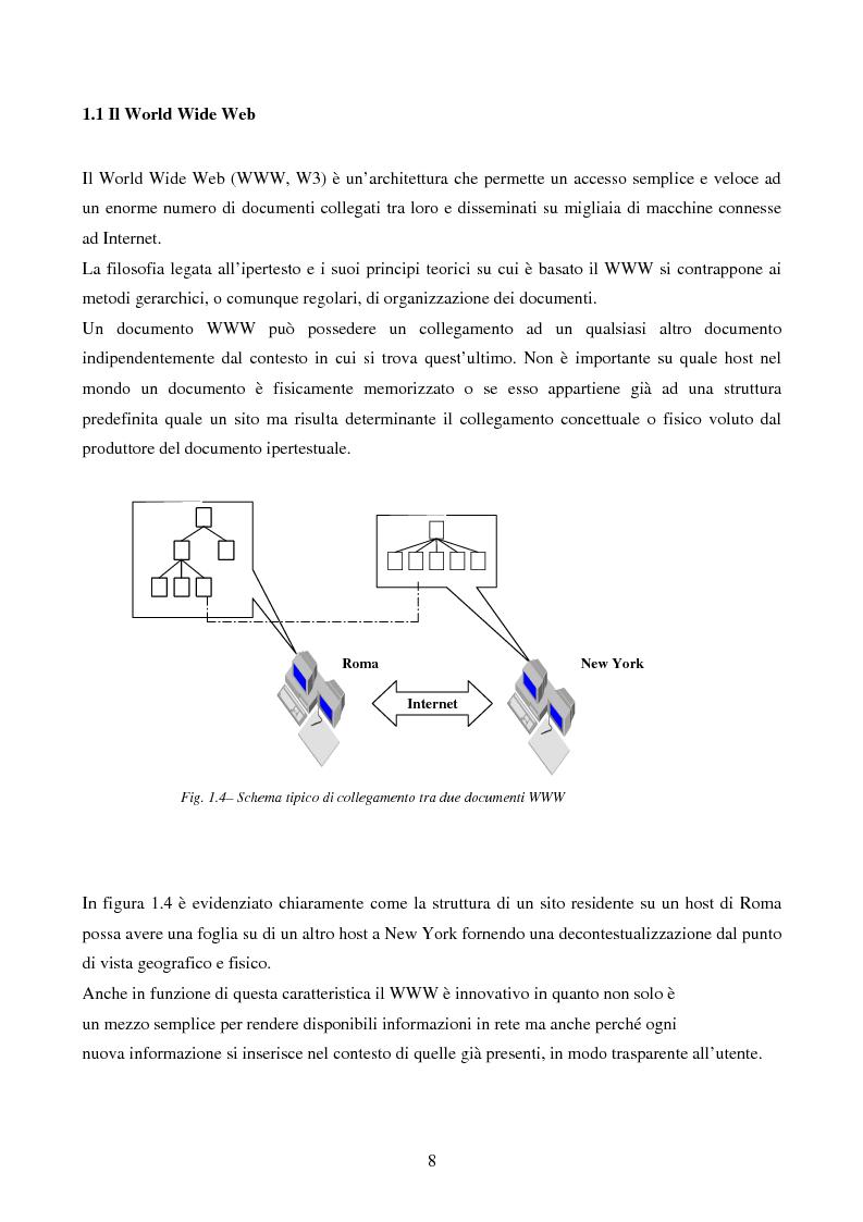 Anteprima della tesi: IVQS SERVER: un sistema client/server di interrogazione di basi di dati multimediali in rete, ad elevato grado di usabilità, con interfaccia iconica, Pagina 8