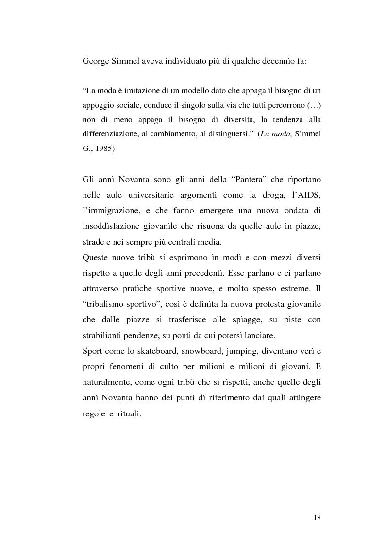 Anteprima della tesi: Evoluzione di un concetto: Sneakers da scarpe da tennis a filosofia di vita. Ruolo della pubblicità, Pagina 15
