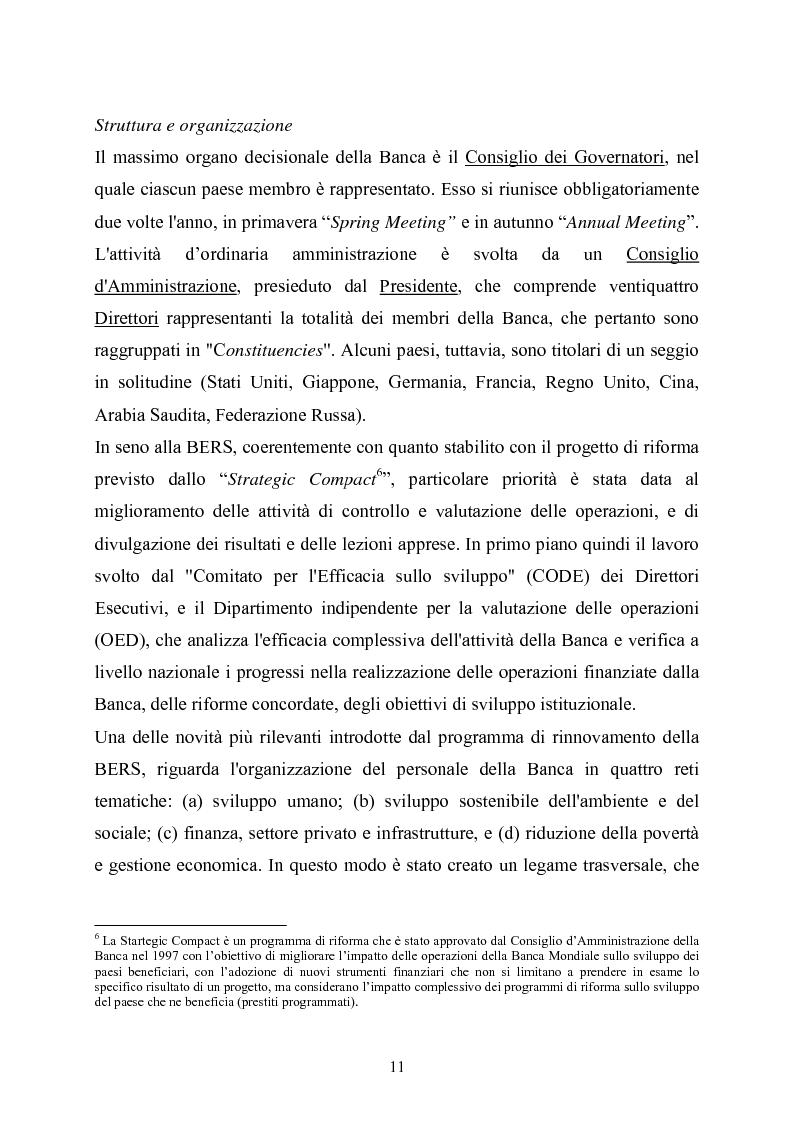 Anteprima della tesi: La Banca Europea per la ricostruzione e lo sviluppo: Istituzione, Organizzazione e Operatività, Pagina 7