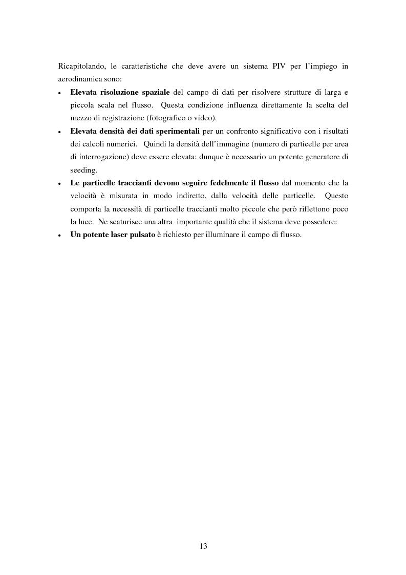 Anteprima della tesi: Misure sperimentali del flusso attorno ad un cilindro con tecnica P.I.V. ed analisi dei risultati, Pagina 13