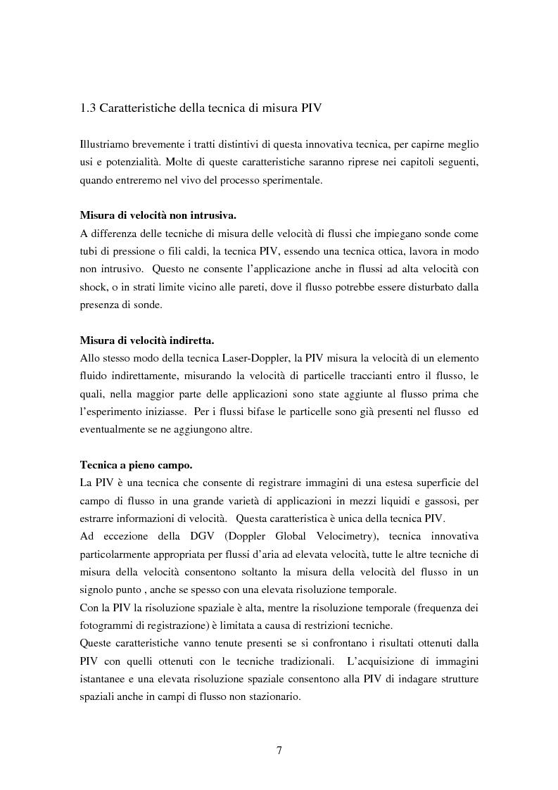 Anteprima della tesi: Misure sperimentali del flusso attorno ad un cilindro con tecnica P.I.V. ed analisi dei risultati, Pagina 7