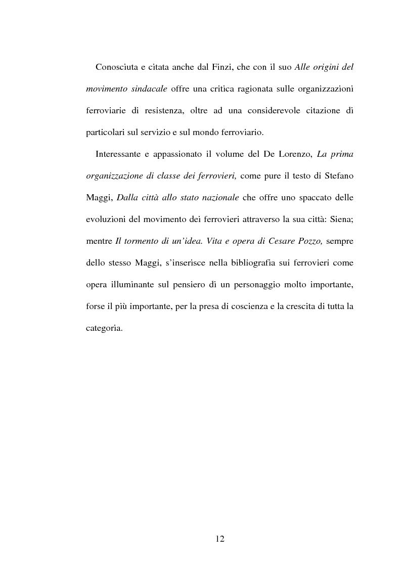 Anteprima della tesi: L'origine del movimento sindacale in ferrovia e l'Italia post-unitaria, Pagina 12