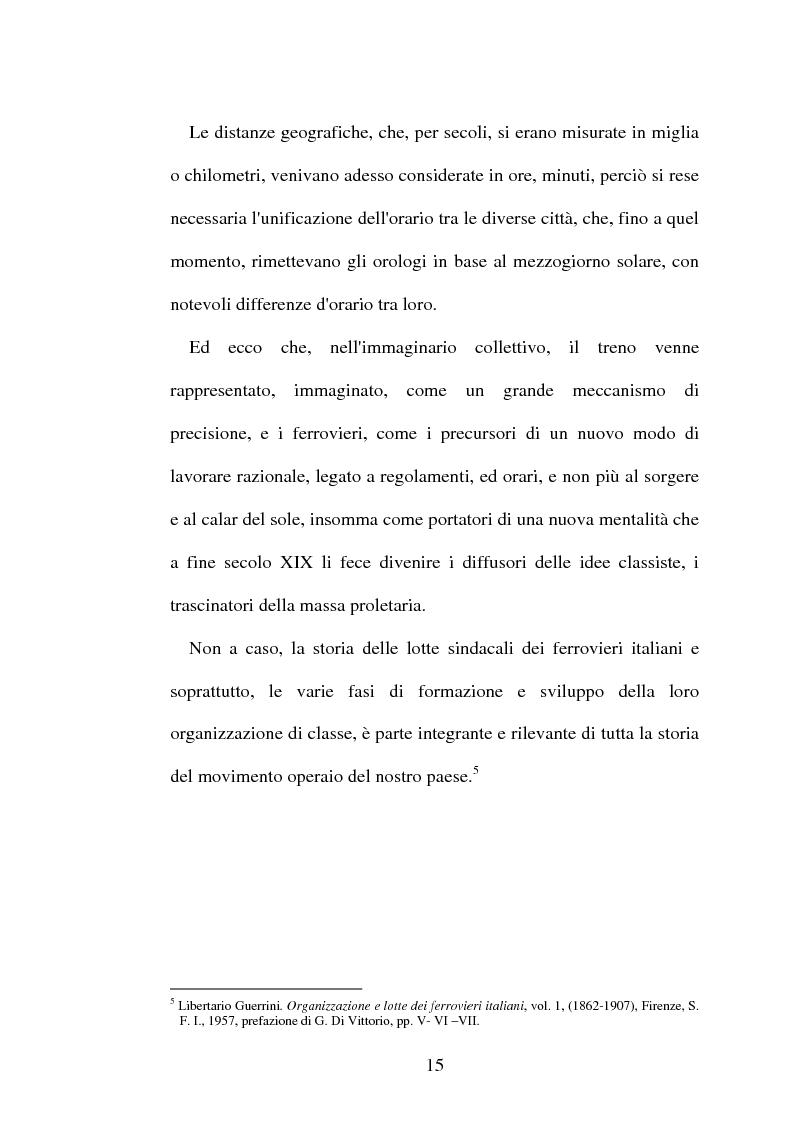 Anteprima della tesi: L'origine del movimento sindacale in ferrovia e l'Italia post-unitaria, Pagina 15