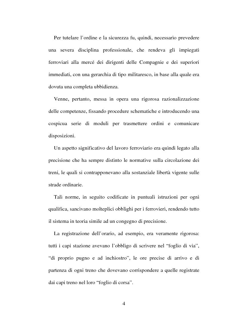 Anteprima della tesi: L'origine del movimento sindacale in ferrovia e l'Italia post-unitaria, Pagina 4