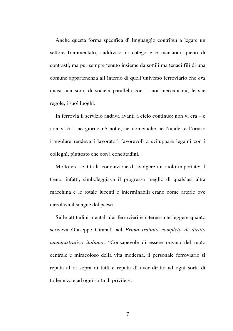 Anteprima della tesi: L'origine del movimento sindacale in ferrovia e l'Italia post-unitaria, Pagina 7