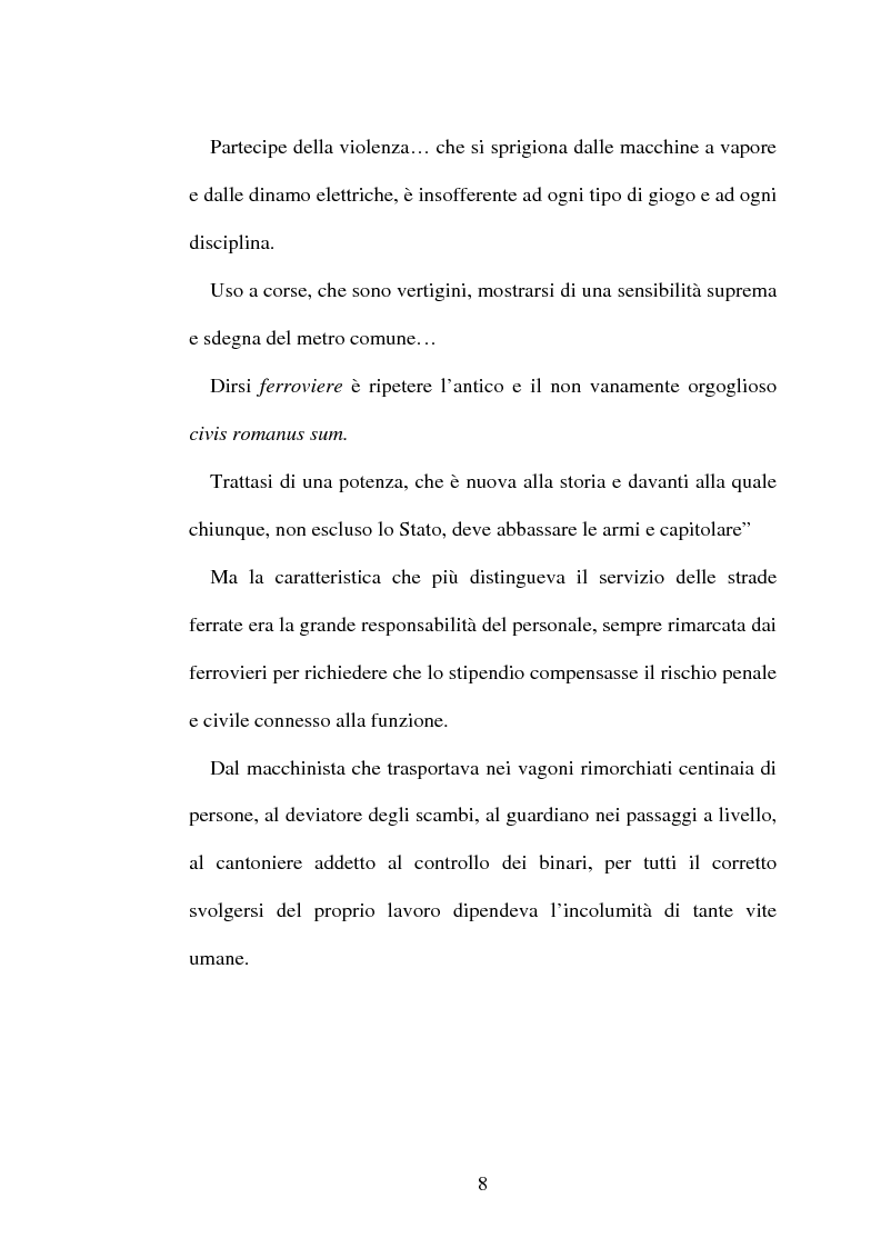 Anteprima della tesi: L'origine del movimento sindacale in ferrovia e l'Italia post-unitaria, Pagina 8