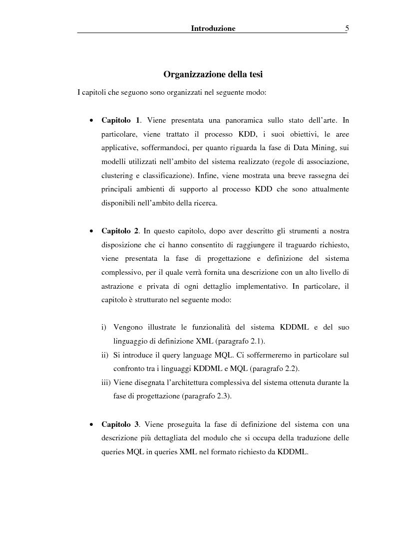 Anteprima della tesi: Implementazione di un Query Language per Knowledge Discovery, Pagina 5