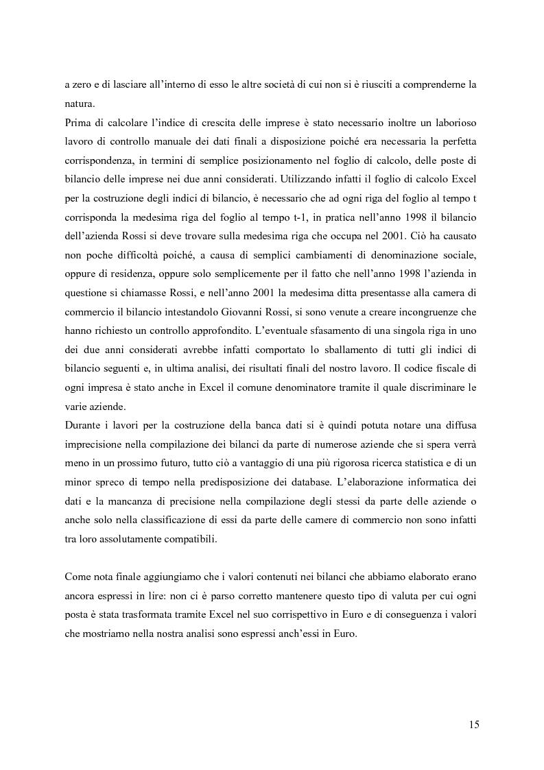 Anteprima della tesi: La distribuzione dei tassi di crescita del manifatturiero cremonese: un'analisi su panel fisso, Pagina 15