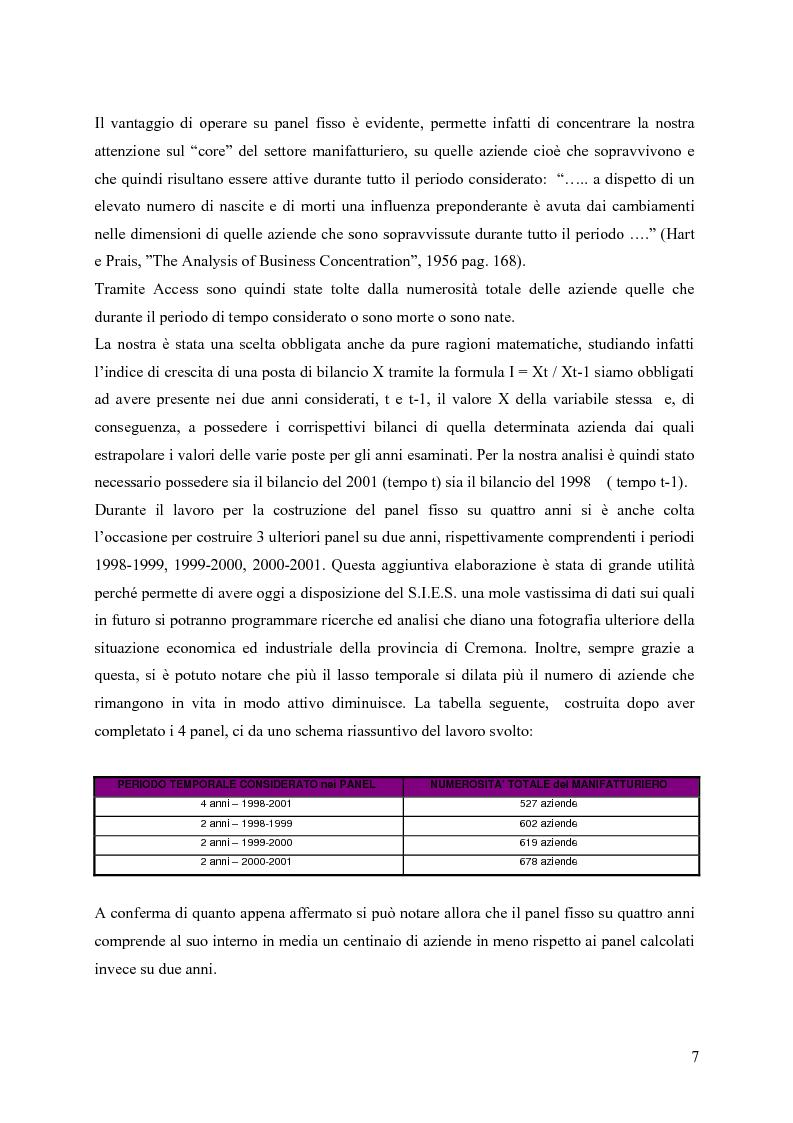 Anteprima della tesi: La distribuzione dei tassi di crescita del manifatturiero cremonese: un'analisi su panel fisso, Pagina 7