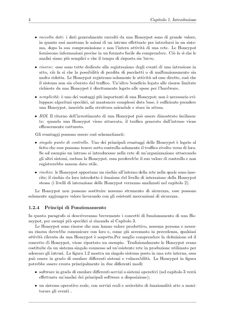 Anteprima della tesi: Sviluppo di una Honeynet nell'attività di Network Forensics, Pagina 6