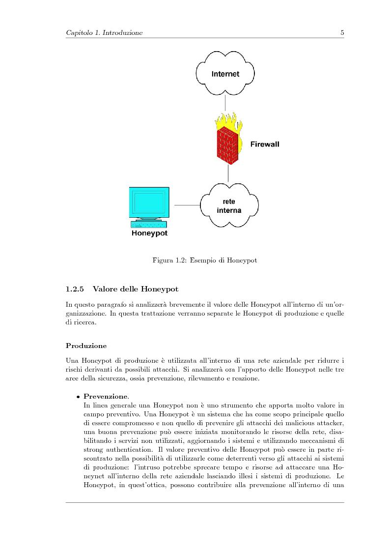 Anteprima della tesi: Sviluppo di una Honeynet nell'attività di Network Forensics, Pagina 7