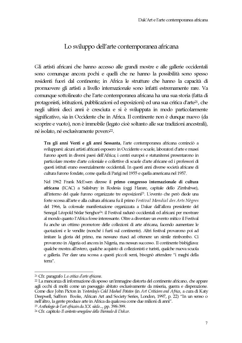 Anteprima della tesi: La Biennale di Dakar, Pagina 12