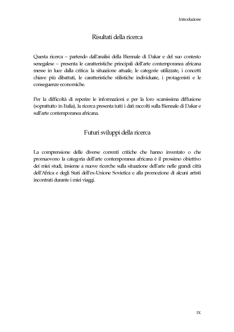 Anteprima della tesi: La Biennale di Dakar, Pagina 5