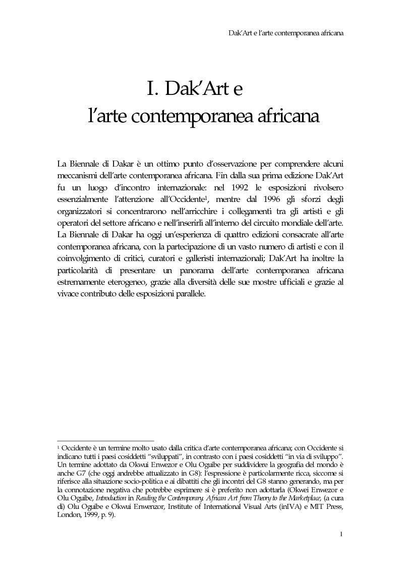 Anteprima della tesi: La Biennale di Dakar, Pagina 6