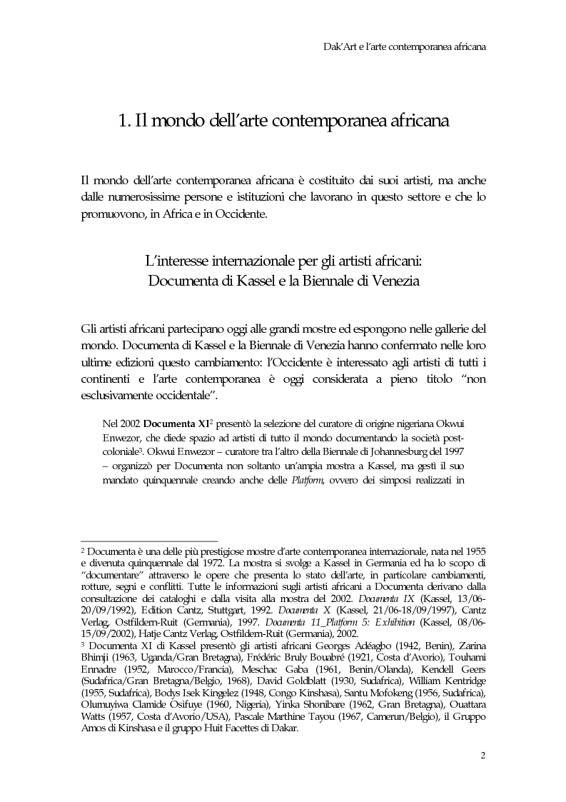 Anteprima della tesi: La Biennale di Dakar, Pagina 7
