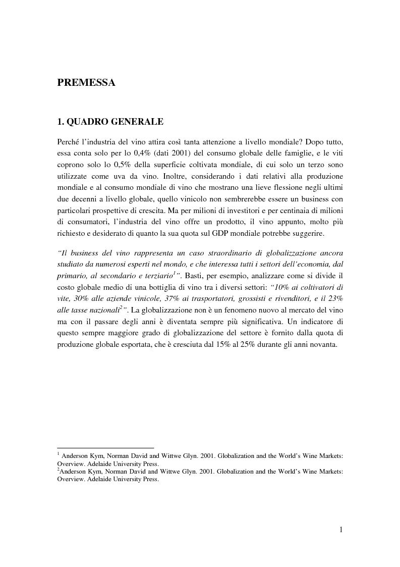 Anteprima della tesi: Strategie competitive e modelli di business nel settore vitivinicolo: il caso Illva Saronno, Pagina 1