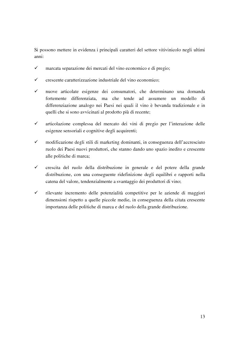 Anteprima della tesi: Strategie competitive e modelli di business nel settore vitivinicolo: il caso Illva Saronno, Pagina 13