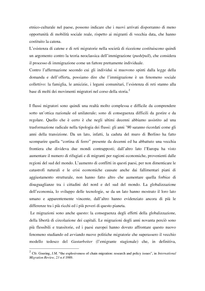 Anteprima della tesi: L'ingresso e il soggiorno degli stranieri non comunitari in Europa: tra cittadinanza ed esclusione. I casi di Francia e Spagna., Pagina 4