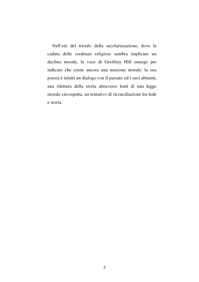 Anteprima della tesi: Le prime due sillogi di Geoffrey Hill: nascita e maturazione di una poetica della religione, della storia e del linguaggio, Pagina 3