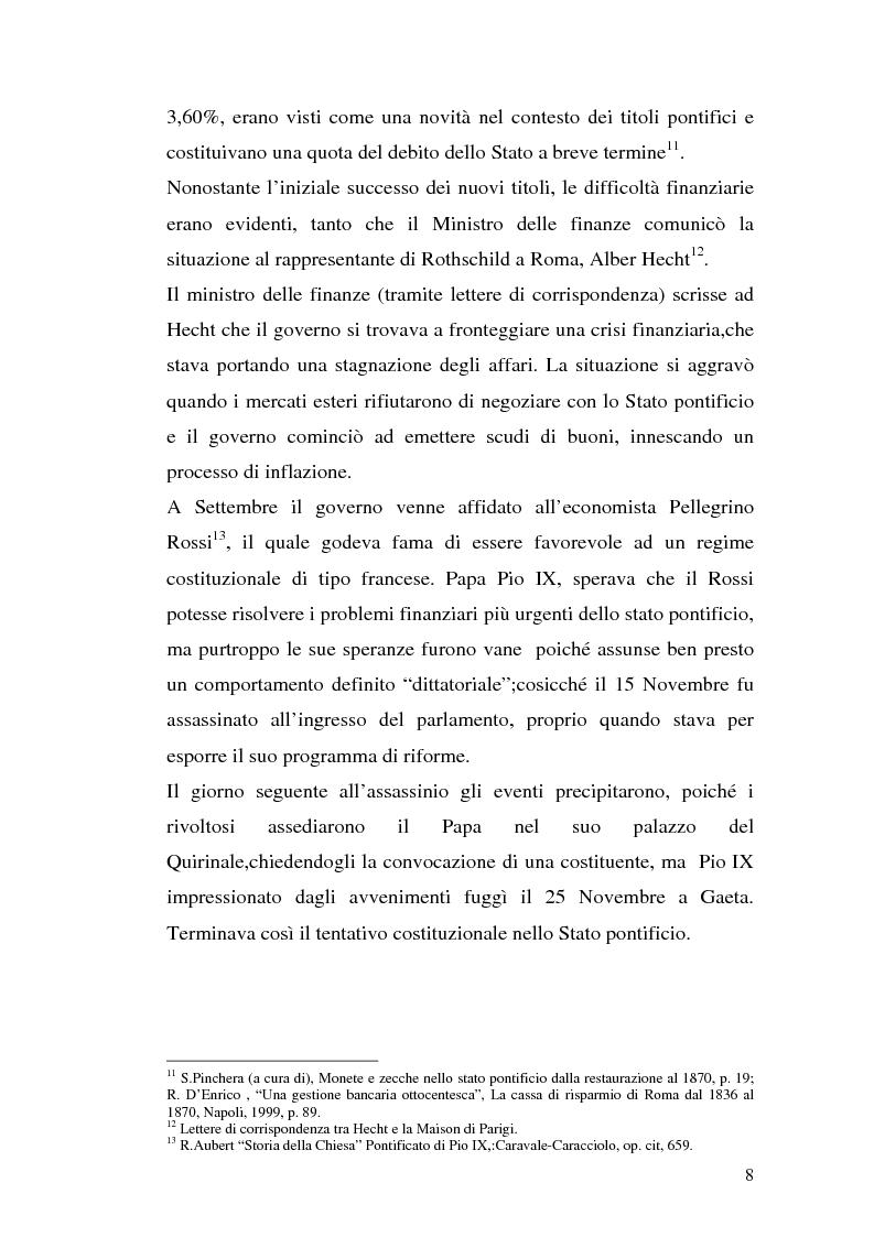 Anteprima della tesi: La borsa di Roma dal 1847 al 1860, Pagina 11