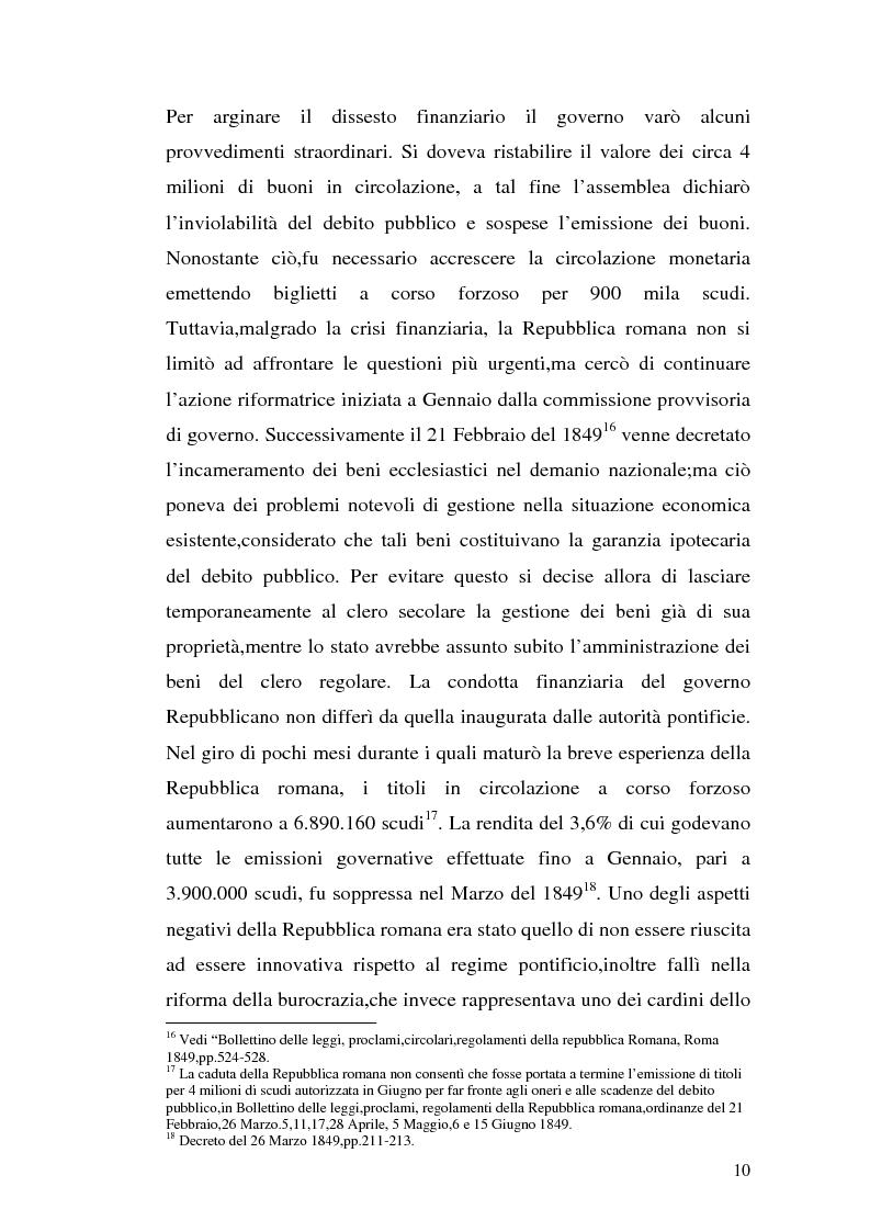 Anteprima della tesi: La borsa di Roma dal 1847 al 1860, Pagina 13