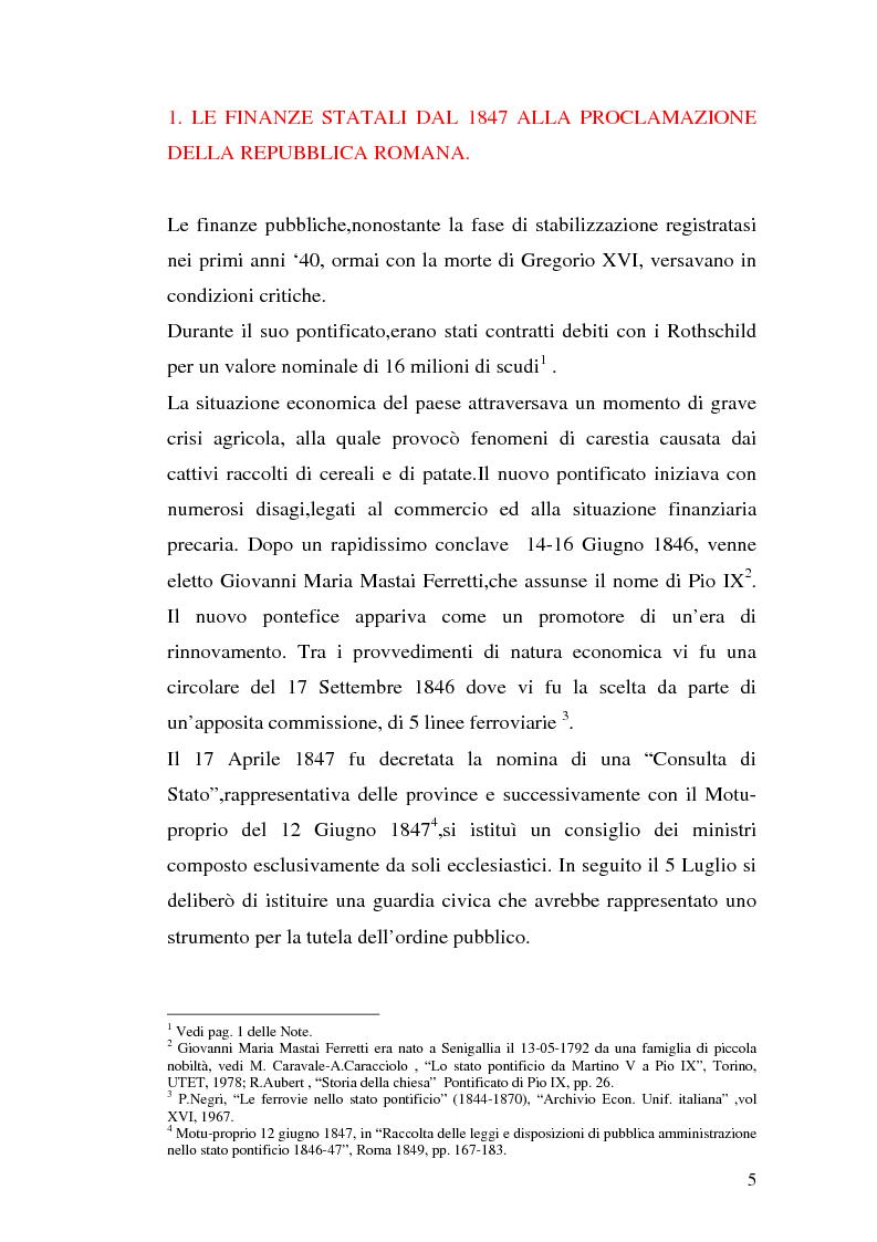 Anteprima della tesi: La borsa di Roma dal 1847 al 1860, Pagina 8