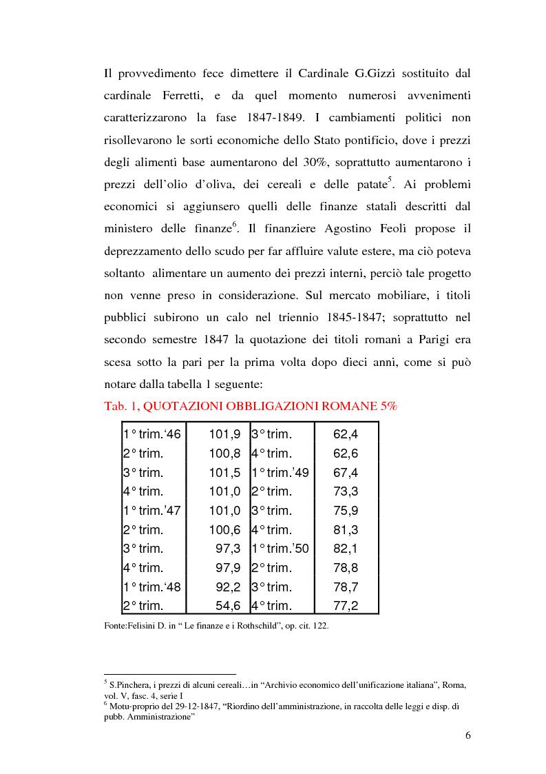 Anteprima della tesi: La borsa di Roma dal 1847 al 1860, Pagina 9