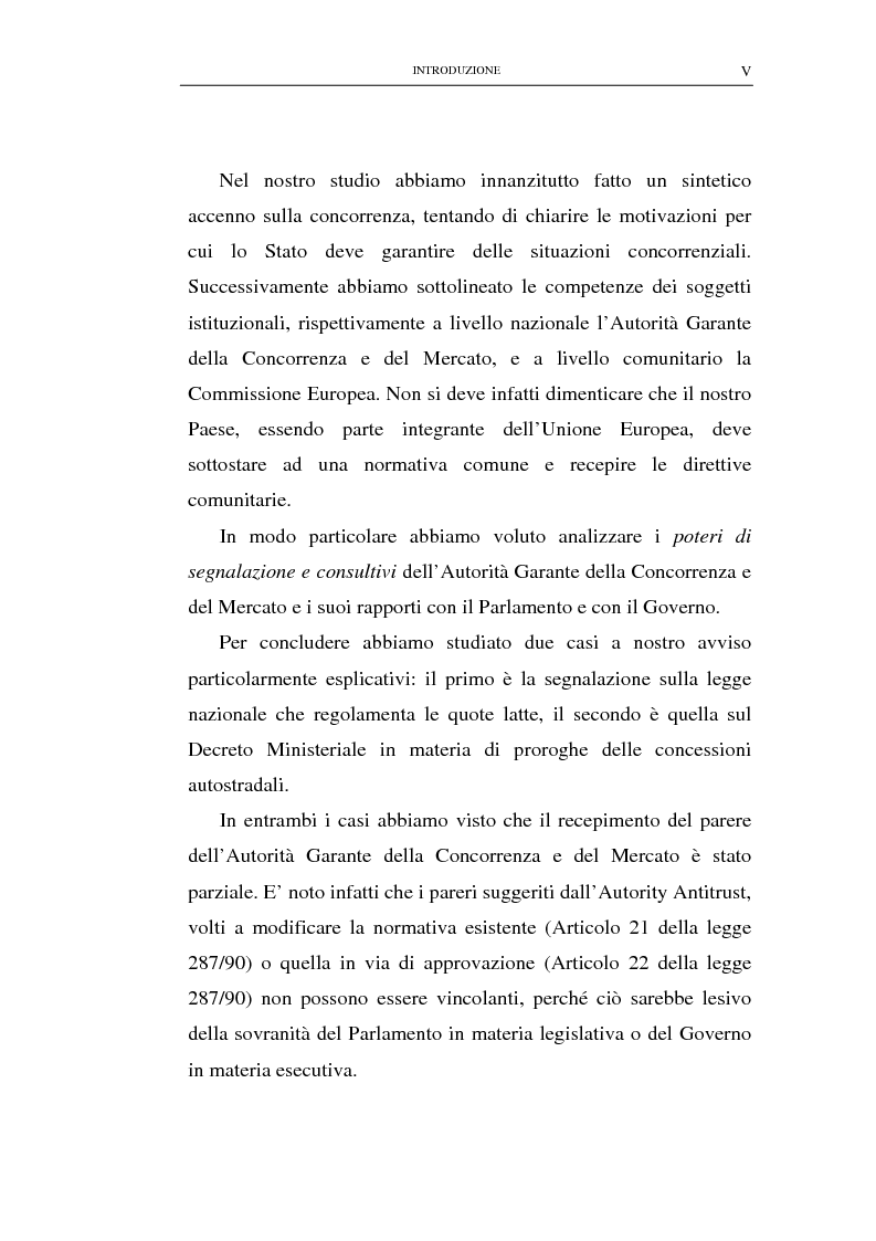 Anteprima della tesi: Il potere consultivo e di segnalazione dell'Autorità Garante della Concorrenza e del Mercato, Pagina 2