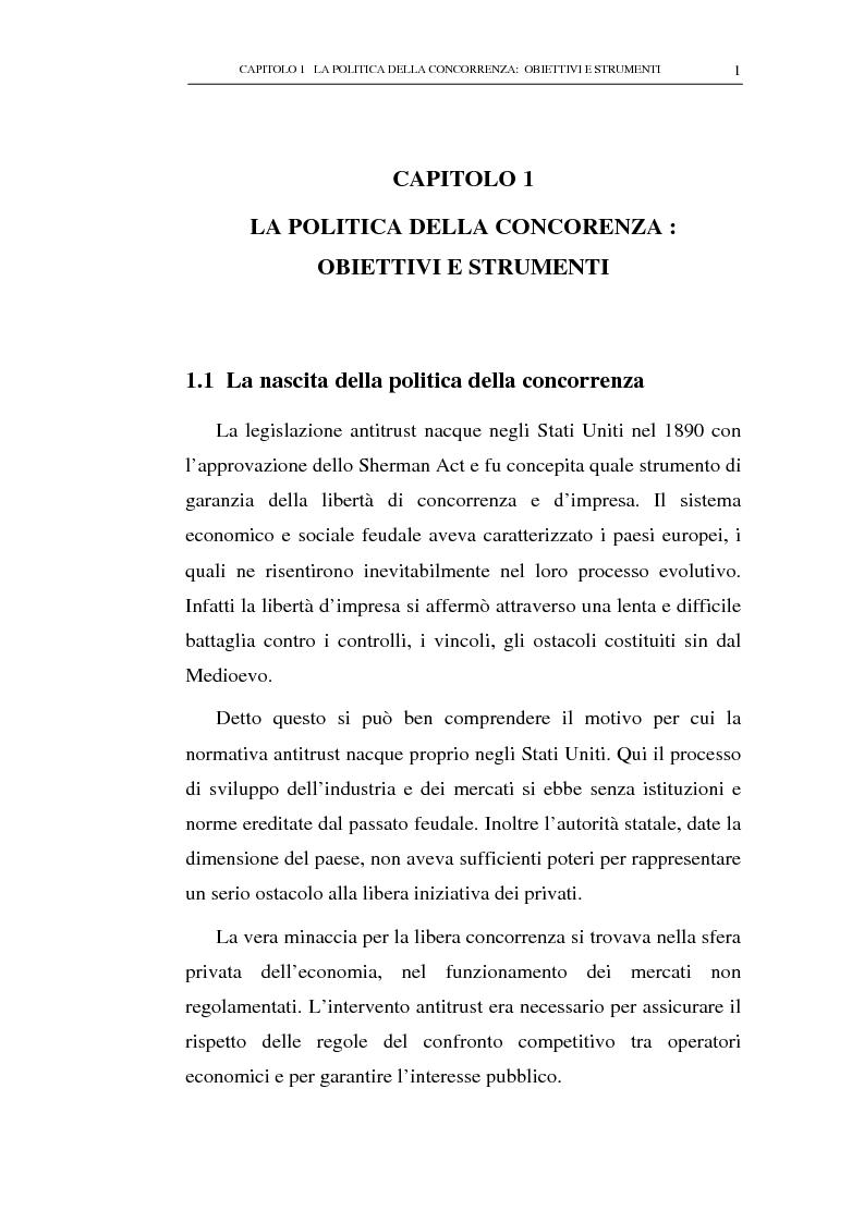 Anteprima della tesi: Il potere consultivo e di segnalazione dell'Autorità Garante della Concorrenza e del Mercato, Pagina 5