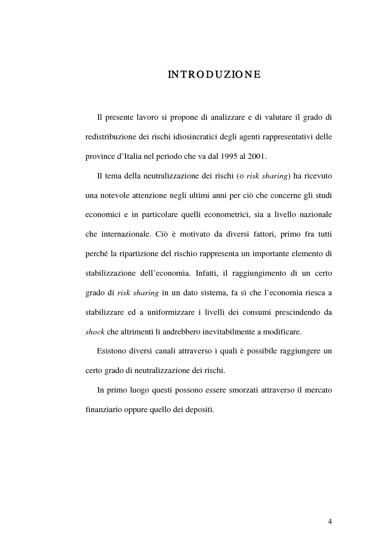 Anteprima della tesi: Ripartizione dei rischi fra le province italiane, Pagina 1