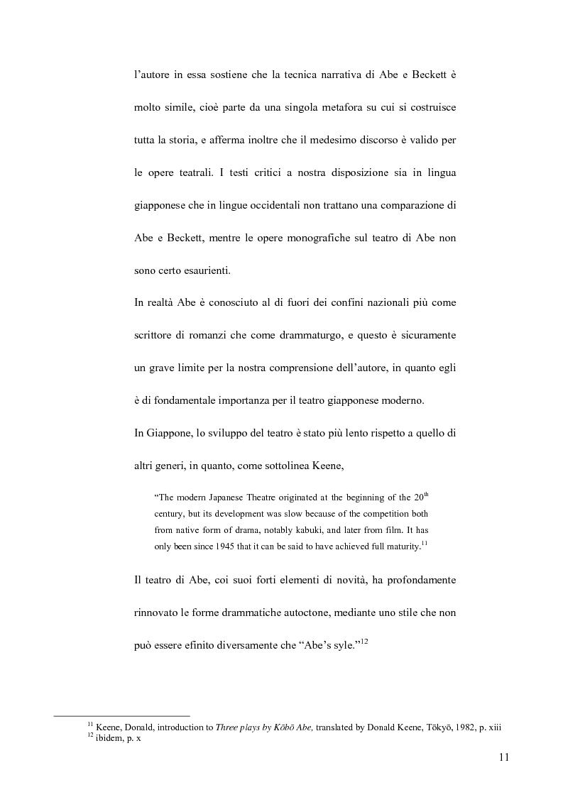 Anteprima della tesi: Il teatro di Samuel Beckett e Abe Kobo, Pagina 7