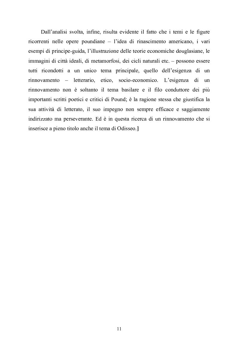 Anteprima della tesi: La figura di Odisseo nel primo Pound, Pagina 11