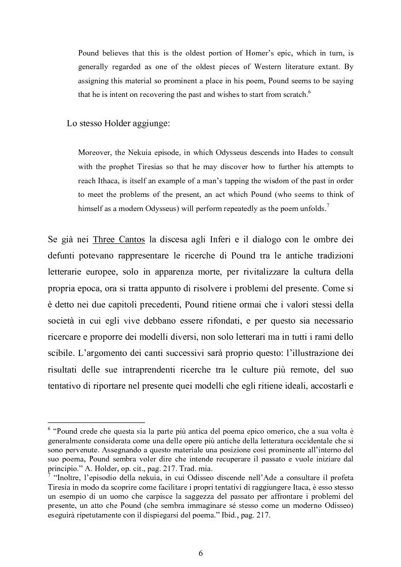 Anteprima della tesi: La figura di Odisseo nel primo Pound, Pagina 6