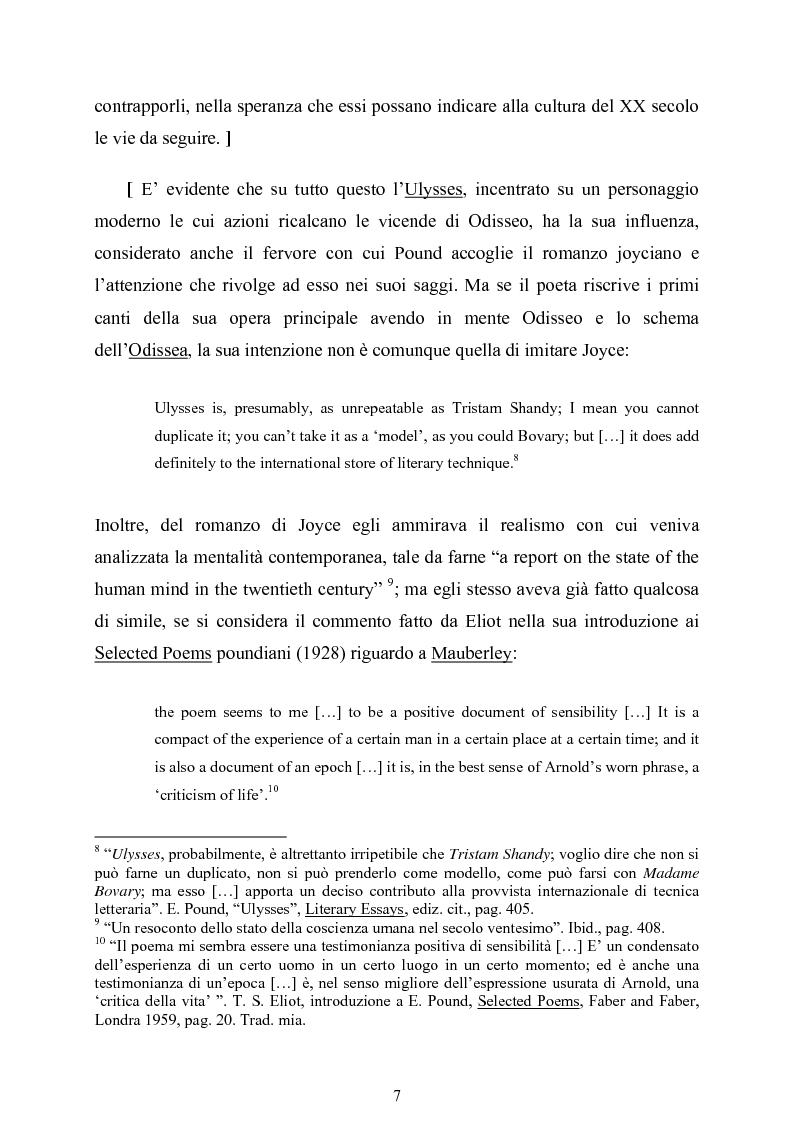 Anteprima della tesi: La figura di Odisseo nel primo Pound, Pagina 7