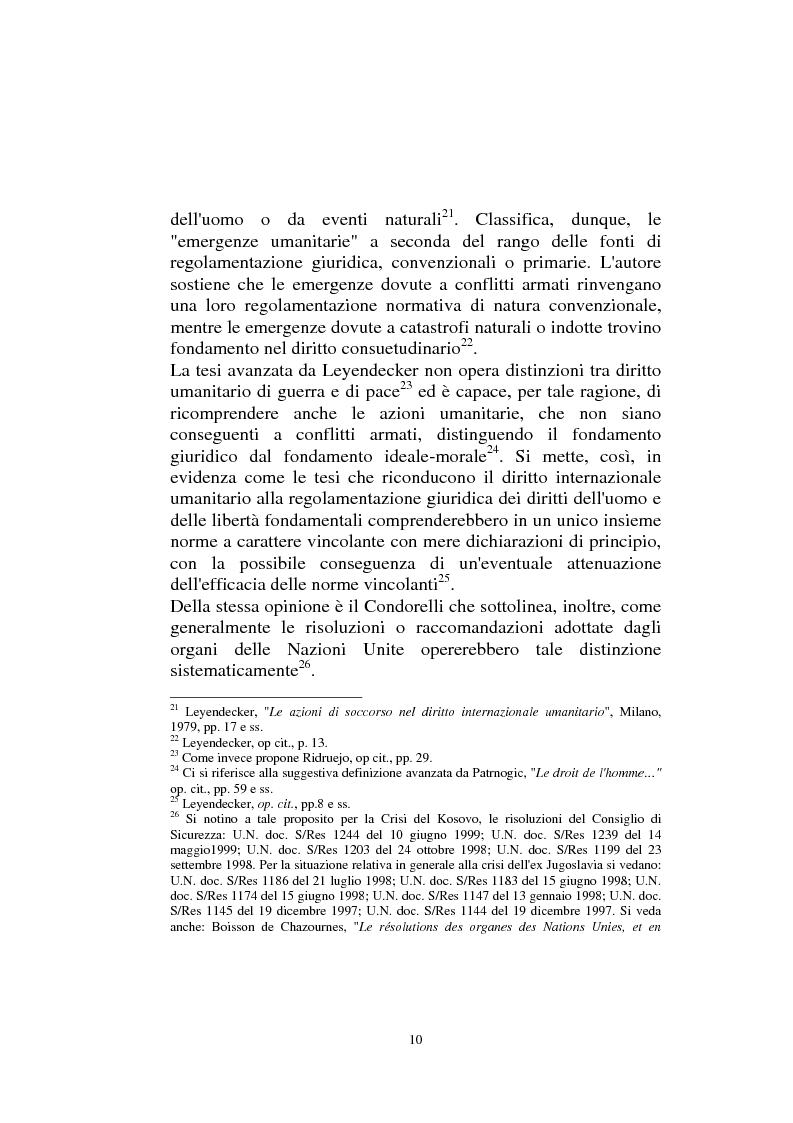 Anteprima della tesi: Diritto internazionale Umanitario - Assistenza e Protezione delle vittime dei conflitti armati, Pagina 10