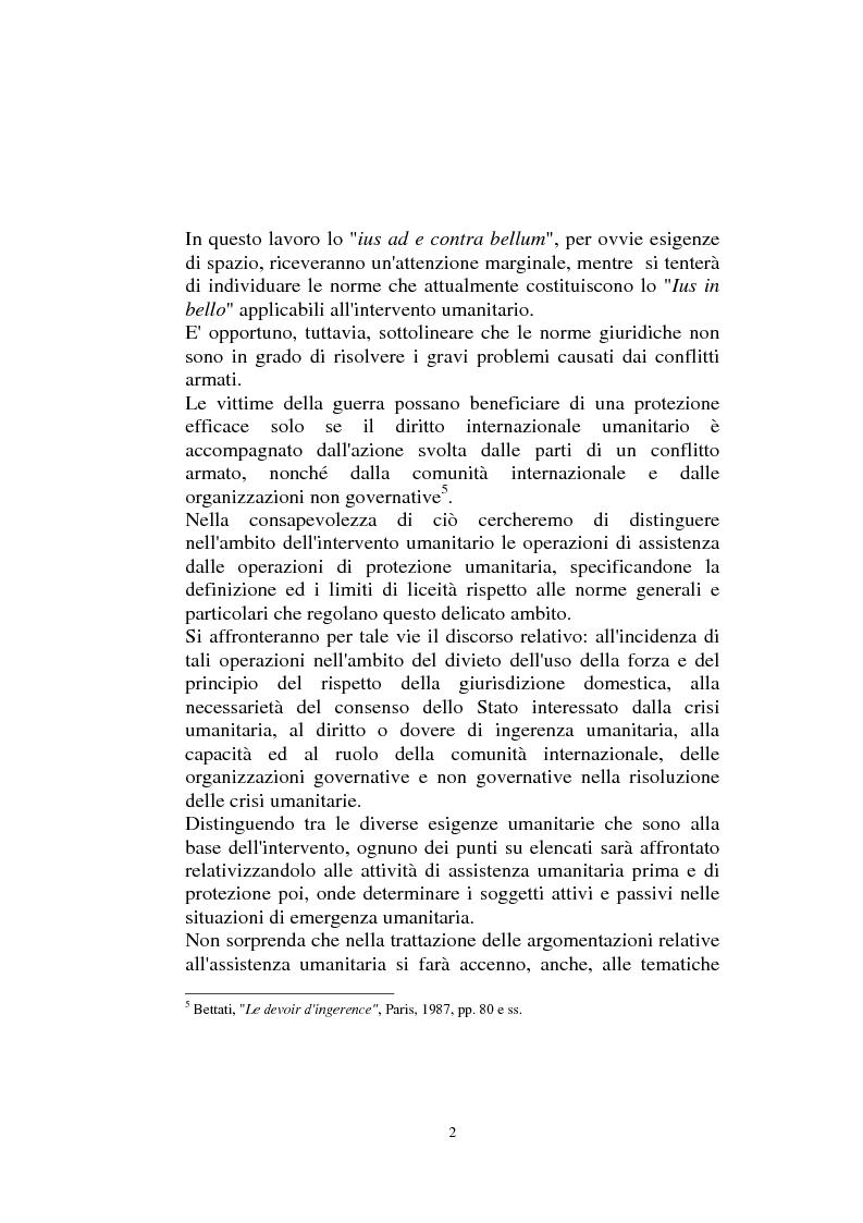 Anteprima della tesi: Diritto internazionale Umanitario - Assistenza e Protezione delle vittime dei conflitti armati, Pagina 2