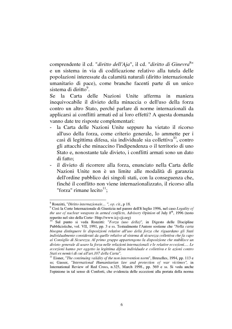 Anteprima della tesi: Diritto internazionale Umanitario - Assistenza e Protezione delle vittime dei conflitti armati, Pagina 6