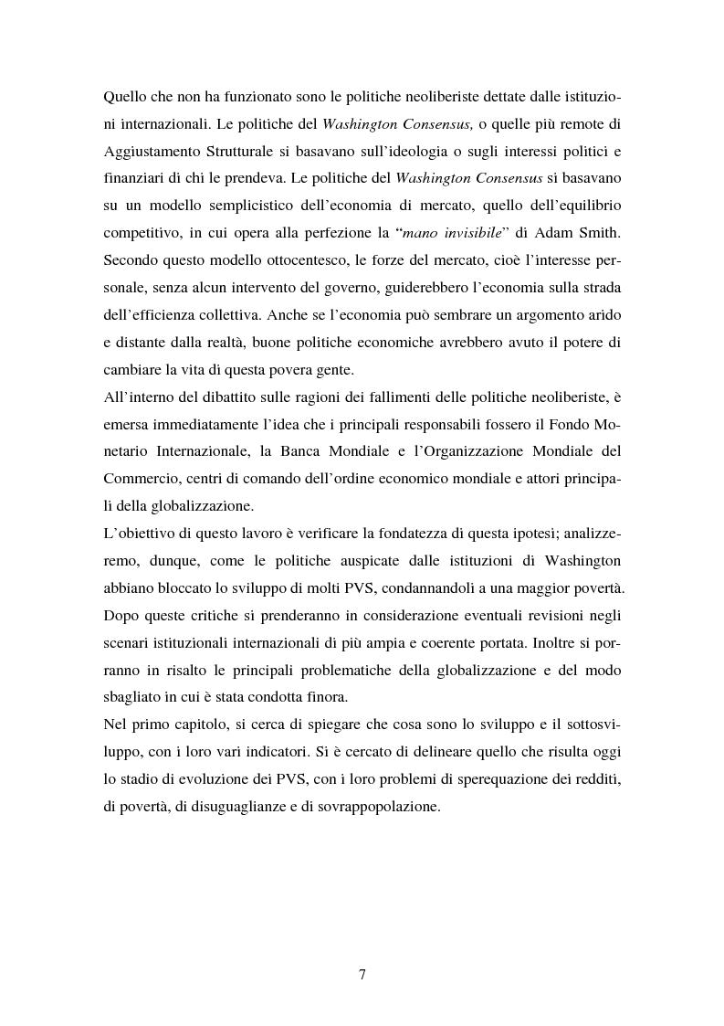 Anteprima della tesi: Trappola del sottosviluppo e ruolo delle organizzazioni internazionali, Pagina 2