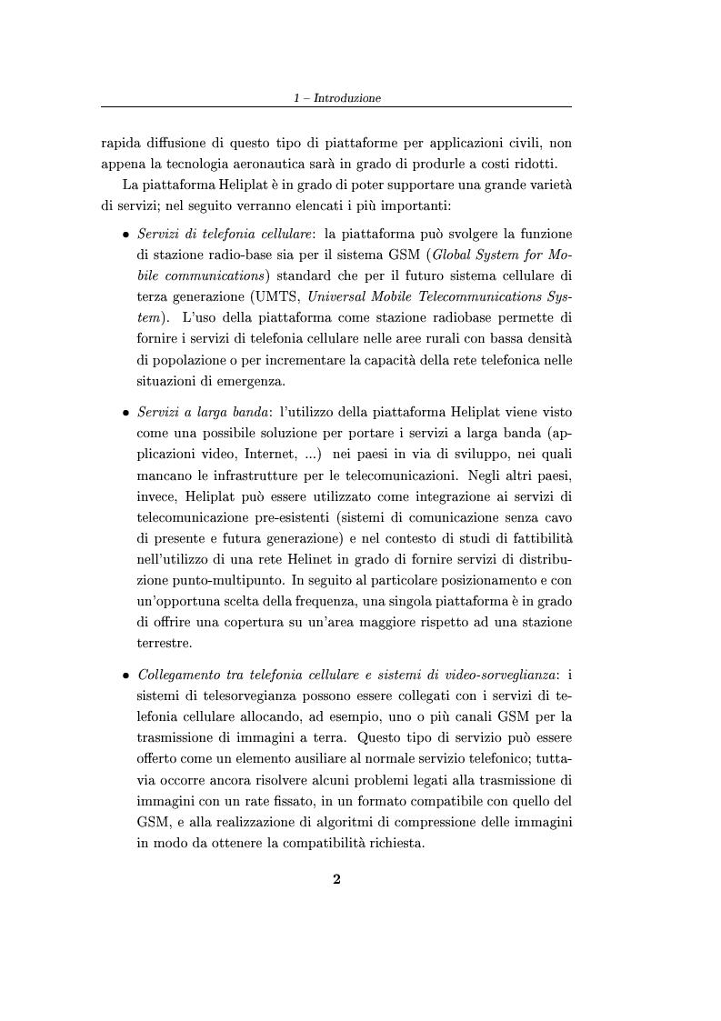 Anteprima della tesi: Sistema di telecomando e telemetria per aerei stratosferici senza pilota: definizione delle specifiche e validazione tramite simulazione, Pagina 2