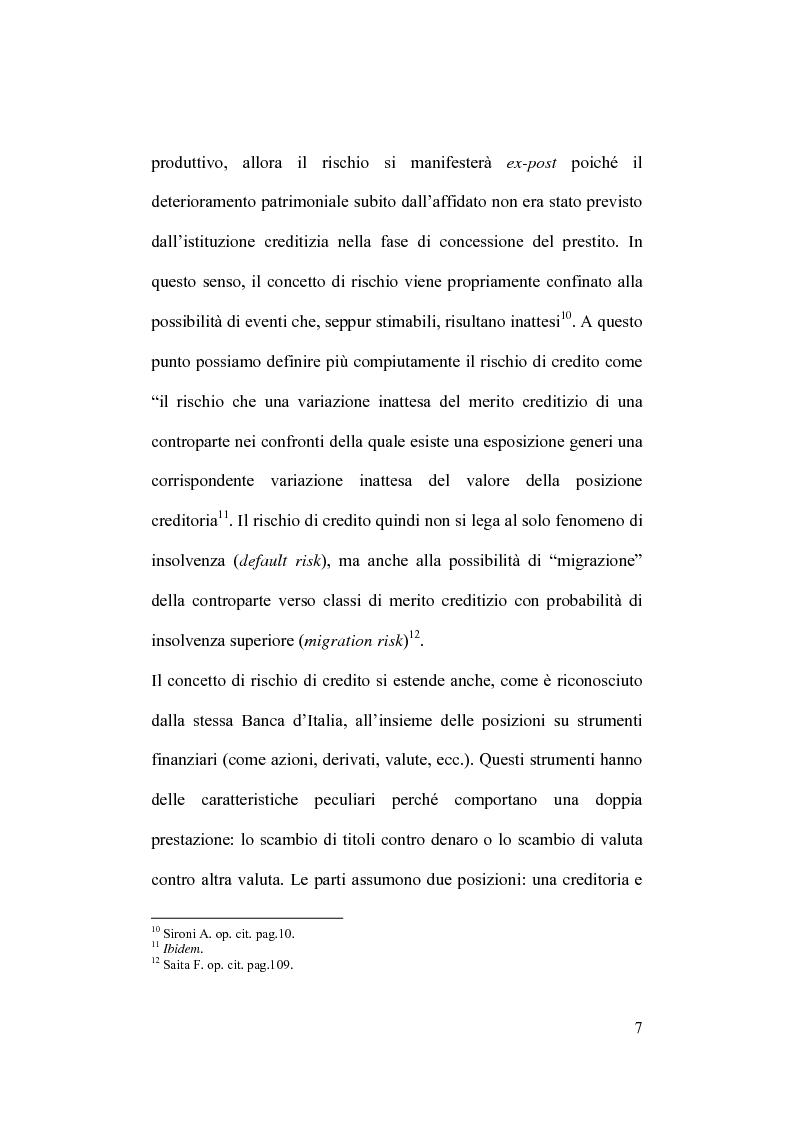 Anteprima della tesi: Rischio operativo e rischio di credito nell'attività bancaria, Pagina 11